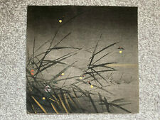 Vintage original Tsukioka Kogyo Japanese woodblock print - Fireflies At Night
