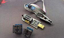 KIT Programmatore CH341A USB per BIOS EEPROM 24c/25x+Clip+Adattatori 150/200mil