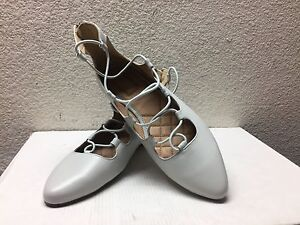 UGG LORIANNA LIGHT GRAY GREY BALLET LEATHER FLATS US 7 / EU 38 / UK 5.5 - NIB