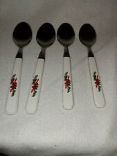 PFALTZGRAFF Christmas Heritage Stainless Flatware Silverware 4 Soup Spoons