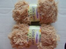 Herrschners Little Lamb soft and fuzzy yarn, Biscuit, lot of 2 (98 yds each)