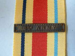 WW2 BRITISH 8th ARMY BAR CLASP for AFRICA STAR MEDAL RIBBON MONTY COMMONWEALTH