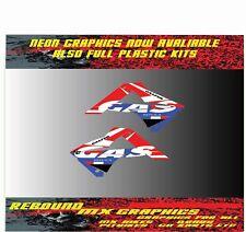 Gas gas ec 85 125 250 450 Motocross Rad Cucharadas Gráficos Pegatina Kit-Decals