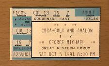 1991 GEORGE MICHAEL 10/5 LOS ANGELES CONCERT TICKET STUB WHAM! CARELESS WHIPER