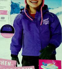Mädchen SCHNEEJACKE Skijacke Winterjacke Gr.86/92 lila NEU