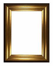 Wide Frame Bucharest Range Picture Frame Photo Frame , Black White , Chrome Gold