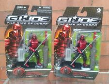 Gi Joe Rise of Cobra sealed Army buulder lot of 2 Crimson Neo Vipers