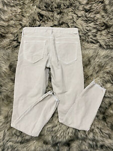 Mother Looker Skinny Ankle Fray Corduroy Pants Anthropologie Size 27
