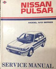 NISSAN PULSAR MODEL N13 SERIES 1987 FACTORY SERVICE MANUAL