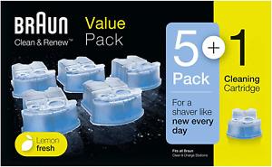 Braun Clean  Charge Cartucce di Ricarica per Rasoio da Barba Elettrico, Compati