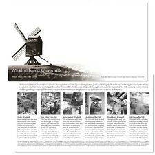 Royal Mail First Day Cover Envelope & Information Card Windmills & Watermills