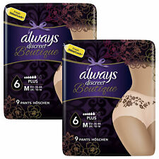 Always Discreet Underwear Incontinence Pants, Boutique - Medium or Large, 2 Pack