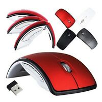 Foldable 2.4 GHz Wireless Arc Optical Mouse Fold Mice USB Receiver for PC Laptop