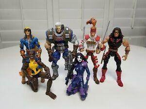 Custom Marvel Legends Cable, Domino, Shatterstar, Warpath Cannon Ball, Wolfsbane
