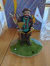 Emmett Kelly Figurine - The Caddy - Stanton Arts - Limited Addition 1991