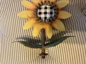 Top Collection My Secret Garden Finials Metal Flower Sunflower Fall Décor