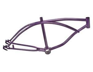 """Lowrider Custom 20"""" Steel Bicycle Frame Lowrider Purple Bike Frame Part"""