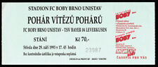 TICKET FC Boby Brno - Bayer 04 Leverkusen 1993/94 ECWC Czech Republic Germany