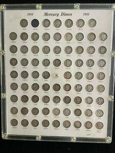 Complete Mercury Dime Collection 1916-1945 No 1916 D