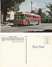 WESTERN FLYER TROLLEY COACH AT EAST WATERTOWN MASS UNUSED COLOUR POSTCARD