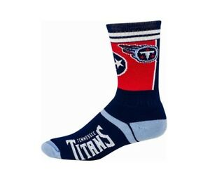 Tennessee Titans Football Navy & Red Landmark State Flag Deuce Crew Socks