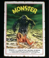 MONSTER manifesto poster Doug McClure Humanoids from the Deep Horror Sci-fi C29