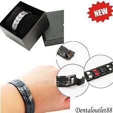 Titanium Magnetic Energy Germanium Armband  Bracelet Health Bio 4in1 man/woman