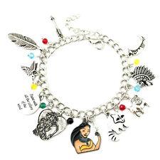 Disney's Pocahontas (10 Themed Charms) Assorted Metal Charm Bracelet