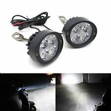 2x Motorcycle Headlight Spot Fog Lights Head Lamp 4 LED Front 12V-85V Driving