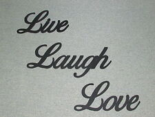 Live Laugh Love Wall Words Wood Wall Decor