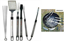 Brinkmann 8 piece Stainless Steel BBQ Grill Set Barbecue Grilling Utensils New
