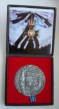 WWII WARSAW GHETTO UPRISING JEWISH SOLID SILVER MARKED  POLISH MEDAL + document