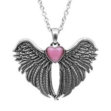 Forever With You Winged Heart Necklace With Cat Eye Stone By Controse