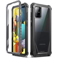 Samsung Galaxy A51 5G прочный прозрачный чехол , поэтическое противоударный бампер чехол черный