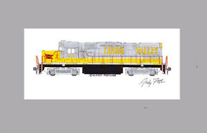 """Delaware-Lackawanna Lehigh Valley C420 11""""x17"""" Matted Print Andy Fletcher signed"""