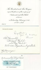 Ronald Reagan - Invitation to Diplomat Philip Habib to Dine with the President