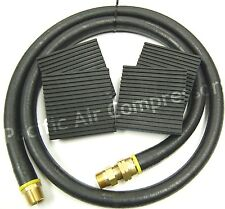 "AIR COMPRESSOR INSTALLATION KIT 4' X 3/4"" MPT FLEX HOSE W/ 4X4 MOUNTING PADS"