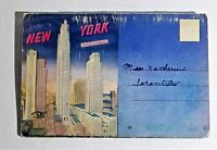 Ephemer New York Skyscrapers USA 20 Color Illustrations Cards Souvenir Folde VTG