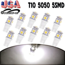 10PCS Super White T10 158 192 5050 5SMD Interior Dome LED Car License Light Bulb