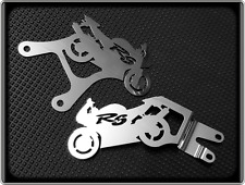 Heel Plates for YAMAHA R6 - 1998 to 2002 - YZF 600 R, Footpeg Guards - Polished