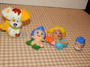 Nickelodeon Bubble Guppies Bubble Puppy,Molly & Gill Figure Toys Lot 4 PC GUC