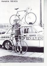CYCLISME carte HENDRIK DEVOS  (equipe flandria ca va seul )  1979