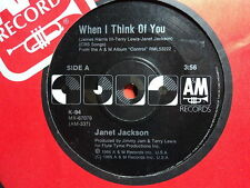"Janet Jackson ""When I Think Of You"" Schmick Oz 7"""