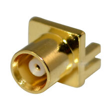 MCX type female jack end launch for 0.8mm PCB mount RF Coaxial connector adapter