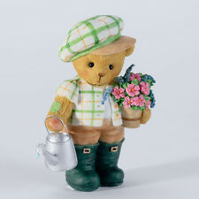 Cherished Teddies Cedric Boy Watering Flowers Bear figurine 4027224 New