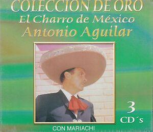 Antonio Aguilar El Charro de Mexico Coleccion de oro 3CD Nuevo sealed BOX SET