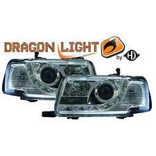 Coppia fari fanali anteriori TUNING AUDI 80, 91-94 cromati dragon Dayline a LED