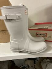 hunter original Whote Rubber Boots Size 8 M 114