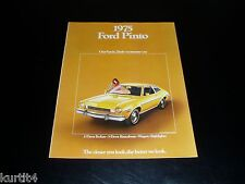 1975 Ford Pinto Runabout Wagon sales brochure deluxe dealer literature