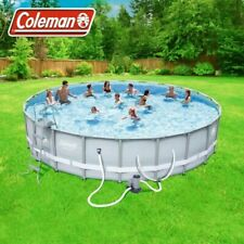 """Coleman Steel Frame 90331 22' x 52"""" Above Ground Swimming Pool"""
